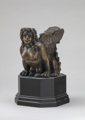 Image for Object with Sphinx Head (Furniture Mount?)