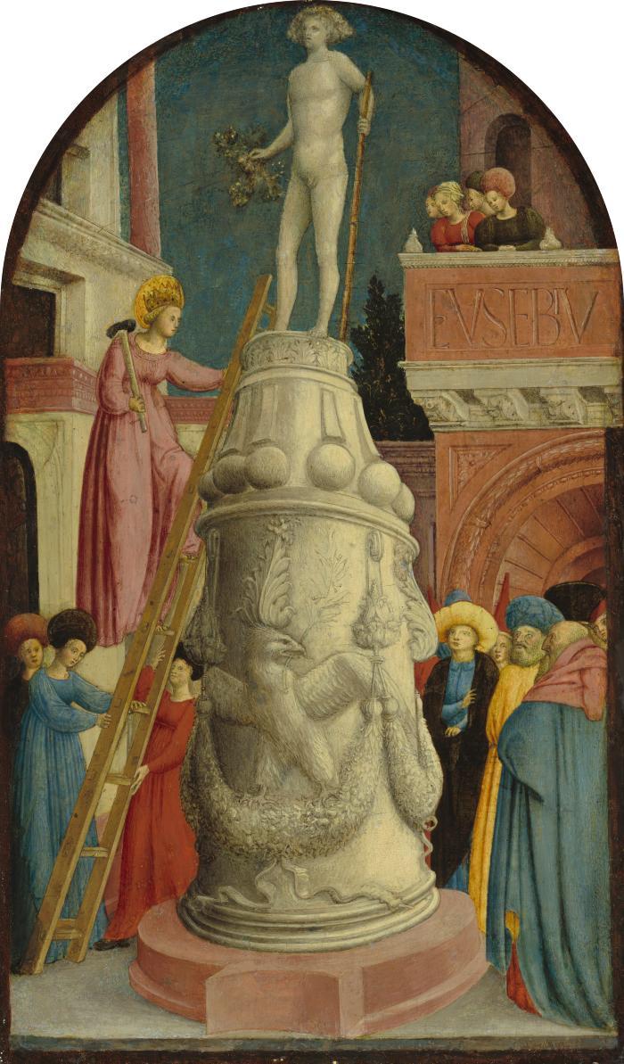 Image for Saint Apollonia Destroys a Pagan Idol